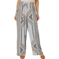 Zac & Rachel Petite Mixed Chevron Pull On Pants
