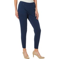 Zac & Rachel Petite Solid Figure Defining Pants