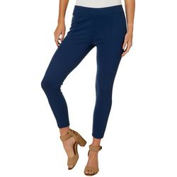 Zac & Rachel Petite Solid Compression Ankle Pants