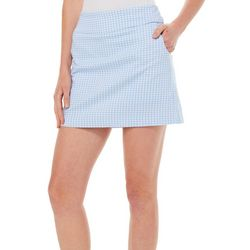 Zac & Rachel Petite Plaid Pull On Skort