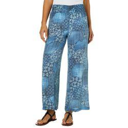 Zac & Rachel Petite Patchwork Print Wide Leg Pants