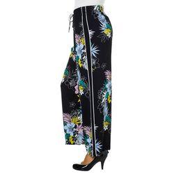 Zac & Rachel Petite Tropical Floral Wide Leg Pants