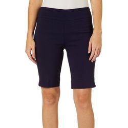 Zac & Rachel Petite Solid Pull On Skimmer Shorts
