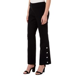 Zac & Rachel Petite Solid Button Detail Pants