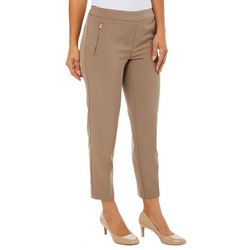 Zac & Rachel Petite Zip Pocket Slim Fit Ankle Pants