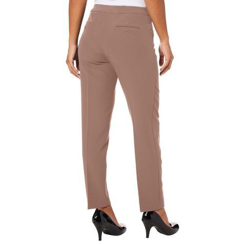 4efe07c26c221 Zac   Rachel Petite Solid Pull On Bond Pants