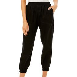 Prosecco Petite Solid Pull On Jogger Pants