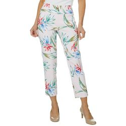 Zac & Rachel Petite Tropical Print Millennium Ankle Pants