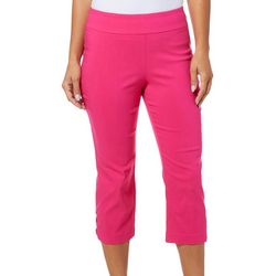 Counterparts Petite Solid Cross Detail Hem Capris