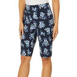 Counterparts Petite Floral Dot Print Bermuda Shorts