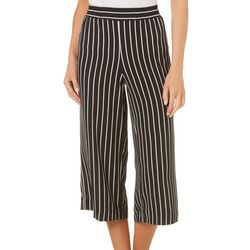 Counterparts Petite Stripe Print Crepe Pants