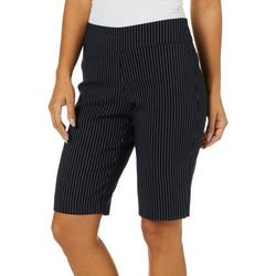 Counterparts Petite Pin Striped Pull On Bermuda Shorts