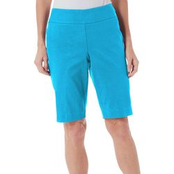 Counterparts Petite Solid Pull On Bermuda Shorts
