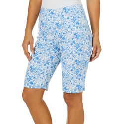 Counterparts Petite Floral Pull On Bermuda Shorts