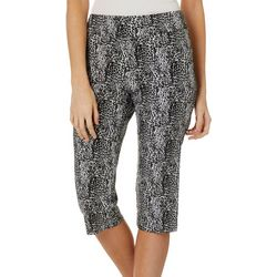 Counterparts Petite Mixed Leopard Print Pull On Capris