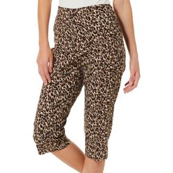 Counterparts Petite Leopard Print Pull On Capris