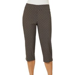 Counterparts Petite Geometric Tile Print Pull On Capris