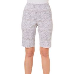 Counterparts Petite Super Stretch Damask Bermuda Shorts