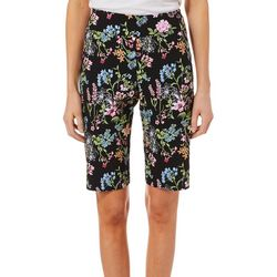Counterparts Petite Floral Boquet Print Bermuda Shorts