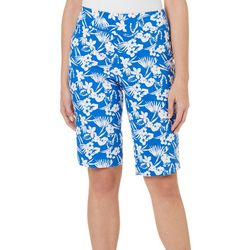 Counterparts Petite Floral Palm Print Skimmer Shorts