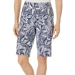 Counterparts Plus Palm Leaf Print Shorts