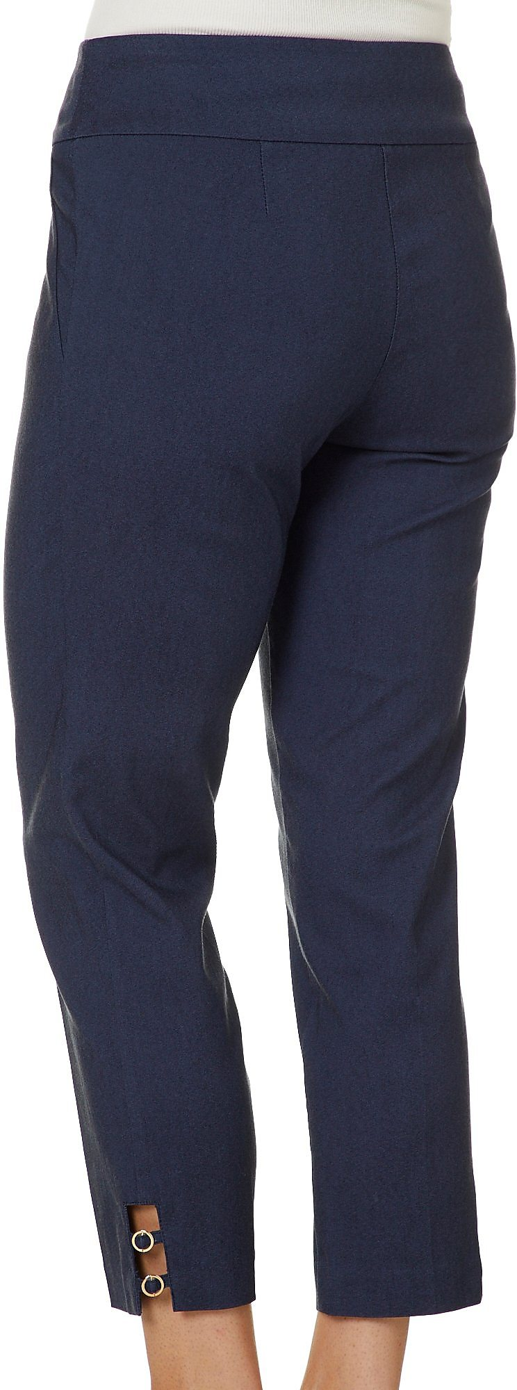 Counterparts Petite Solid Ring Detail Pull On Ankle Pants