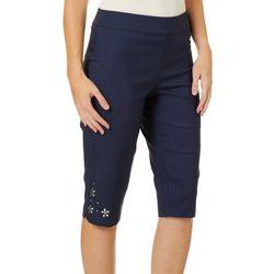Counterparts Petite Flower Embellished Hem Skimmer Shorts