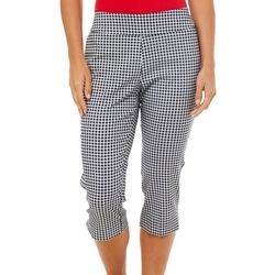 Counterparts Petite Gingham Print Pull On Capris