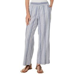 Counterparts Petite Striped Faux Linen Pull On Pants