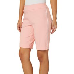 Counterparts Petite Side Piped Pull On Bermuda Shorts
