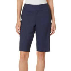 Counterparts Petite Solid Stretch Bermuda Shorts