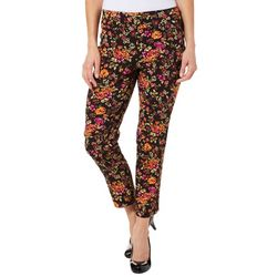 Counterparts Petite Floral Print Super Stretch Pants