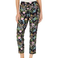 Counterparts Petite Garden Print Super Stretch Pull On Pants