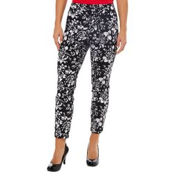 Counterparts Petite Rose Print Super Stretch Pull On Pants