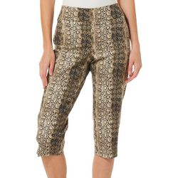 Counterparts Petite Snake Print Pull On Capris