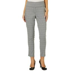 NY Collection Petite Plaid Millenium Pull On Pants