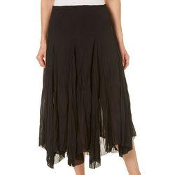 Nouvida Petite Solid Crinkle Maxi Skirt