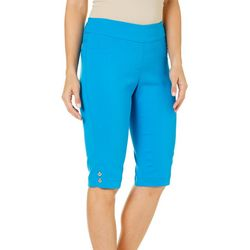 Alia Petite Solid Pull-On Bermuda Shorts