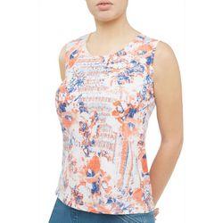 Alia Petite Embellished Mixed Floral Sleeveless Top