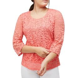 Alia Petite Lace Scoop Neck Top
