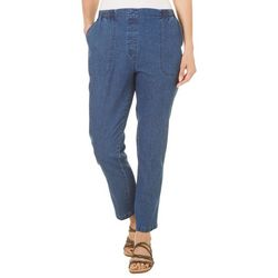 Alia Petite Cottage Denim Pull On Jeans