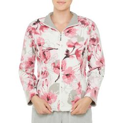 Alia Petite French Terry Floral Print Jacket