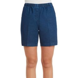 Alia Petite Denim Pull-On Shorts