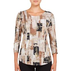 Alia Petite Brushstroke Foil Text Top