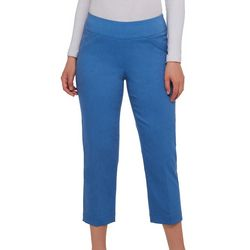 Alia Petite Heathered Tech Stretch Capris
