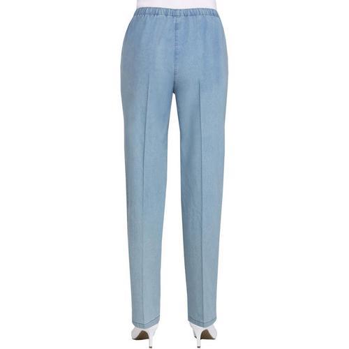 Joe/'s Jean Women/'s Crop Pants Modern Casual Cotton Linen Blue Chambray