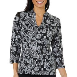 Hearts of Palm Petite Must Haves Floral Paisley Top