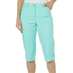 Hearts of Palm Petite Palm Perfect Solid Capris