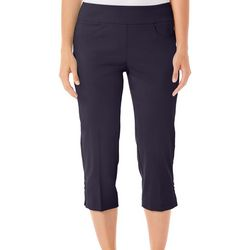 Hearts of Palm Petite Solid Pull-On Capris