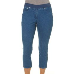 Hearts of Palm Petite Ribbed Waist Jegging Capris